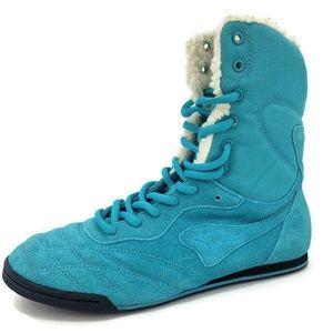 KangaRoos Mambo Turquoise High Top Shoes